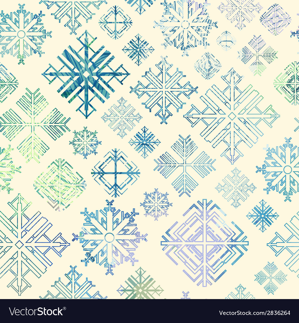 Seamless snowflake winter watercolor christmas bac vector | Price: 1 Credit (USD $1)
