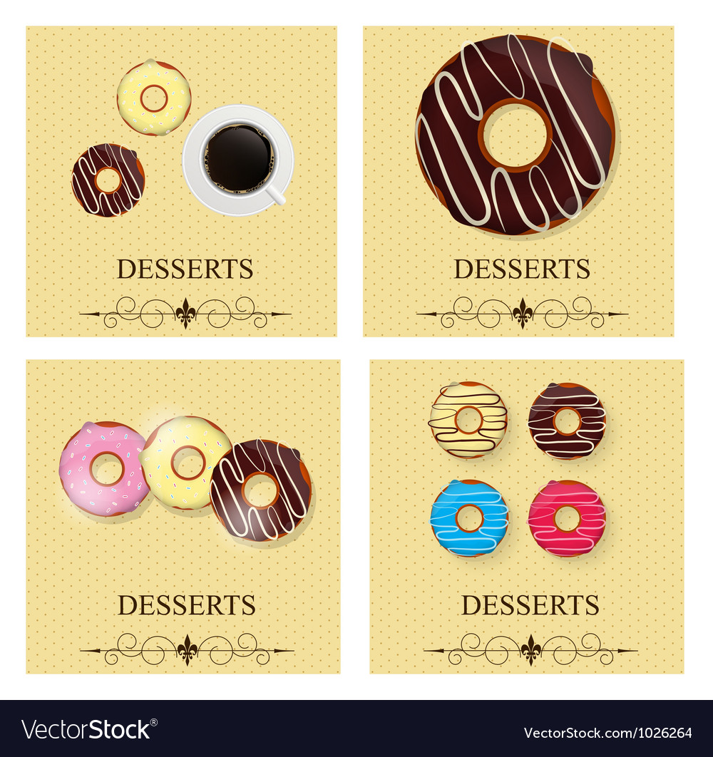 Set of the dessert menu vector | Price: 1 Credit (USD $1)
