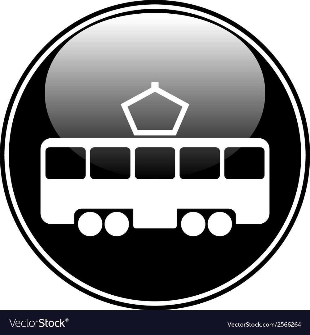 Tram button vector | Price: 1 Credit (USD $1)