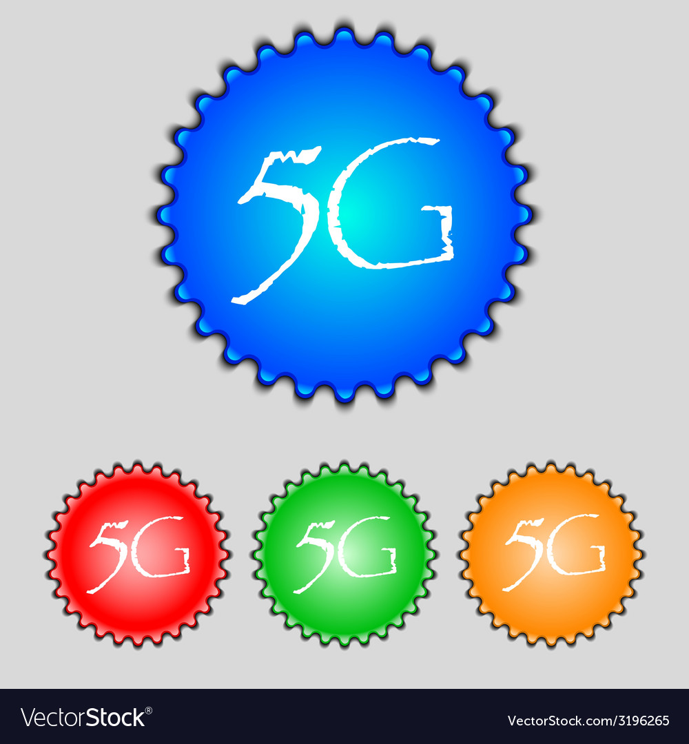 5g sign icon mobile telecommunications technology vector | Price: 1 Credit (USD $1)