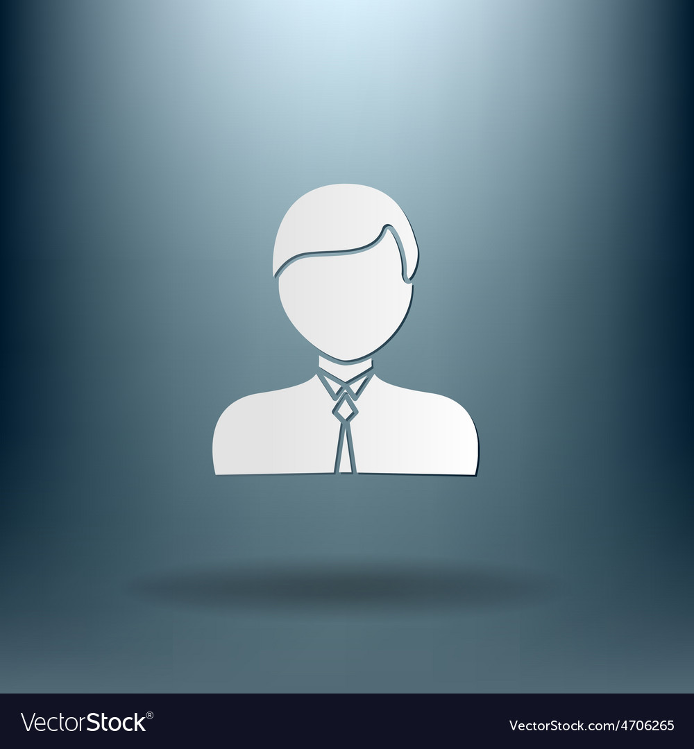 A male avatar picture a man icon image guy in tie vector | Price: 1 Credit (USD $1)