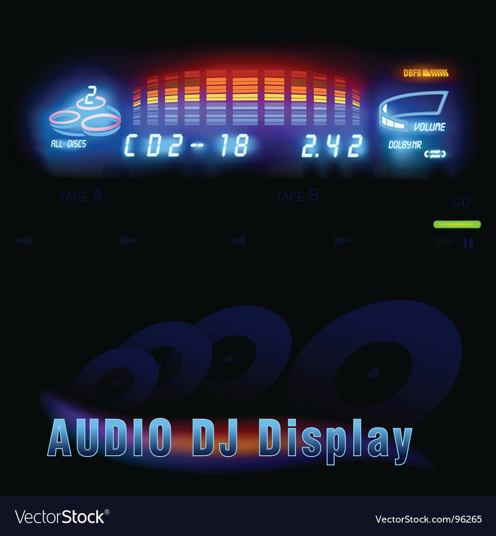 Audio dj display vector | Price: 1 Credit (USD $1)