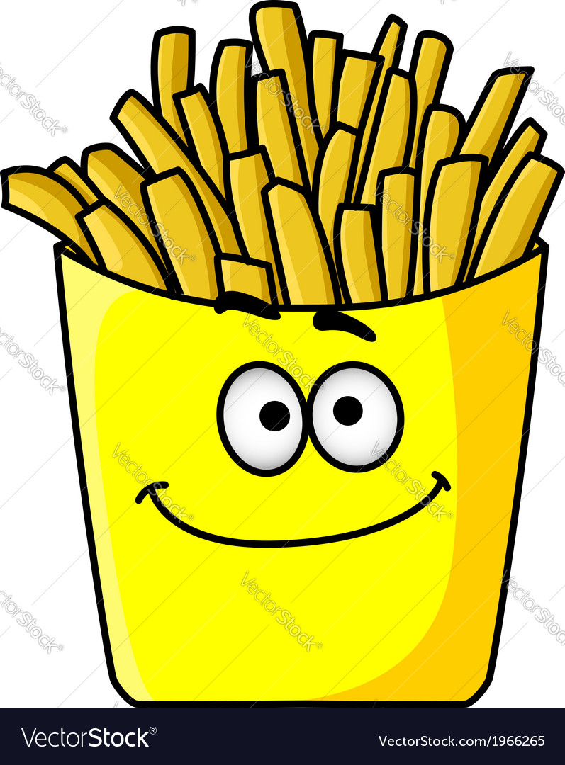 Delicious golden crispy french fries in a packet vector   Price: 1 Credit (USD $1)