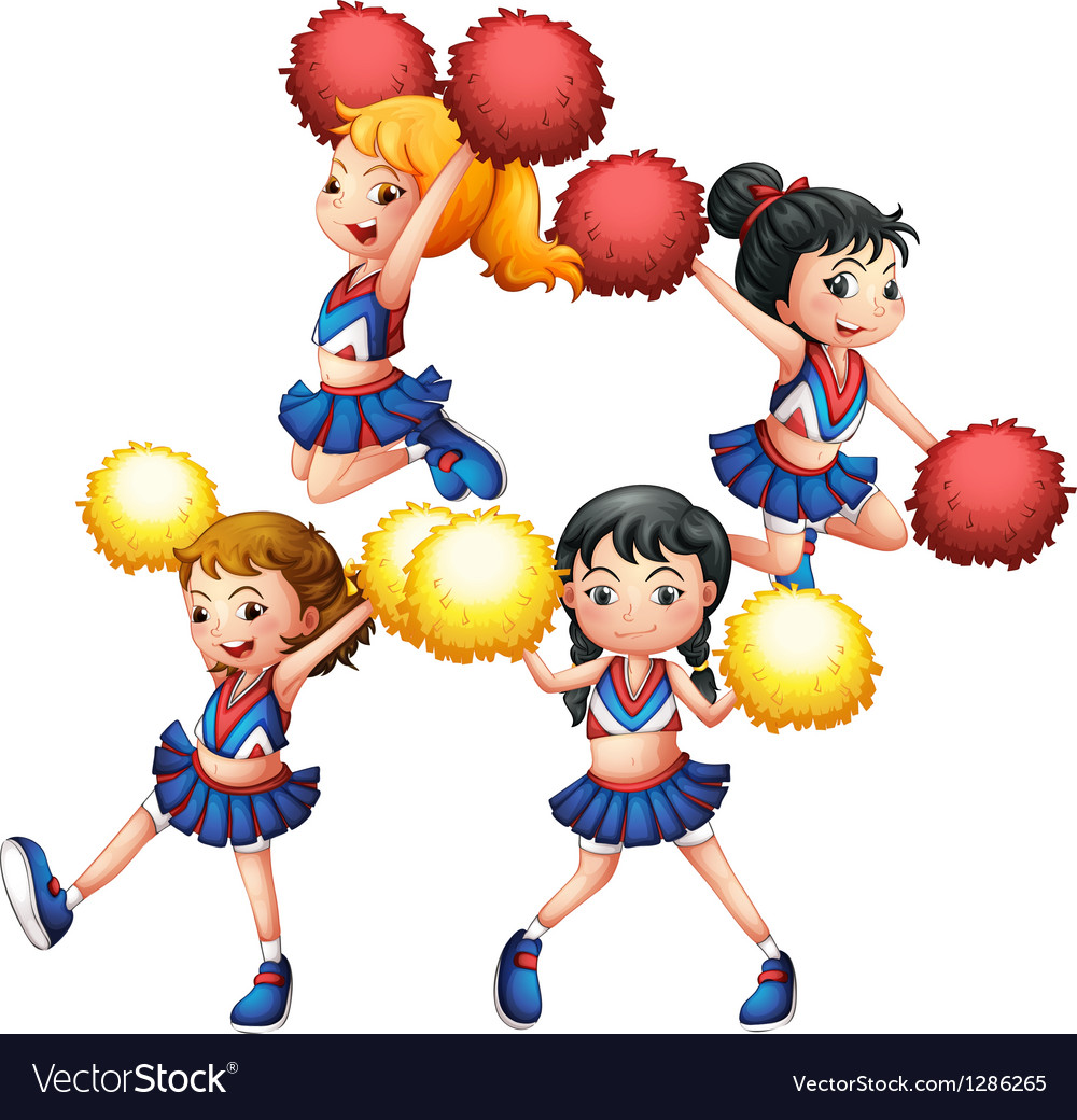 The energetic cheering squad vector | Price: 1 Credit (USD $1)
