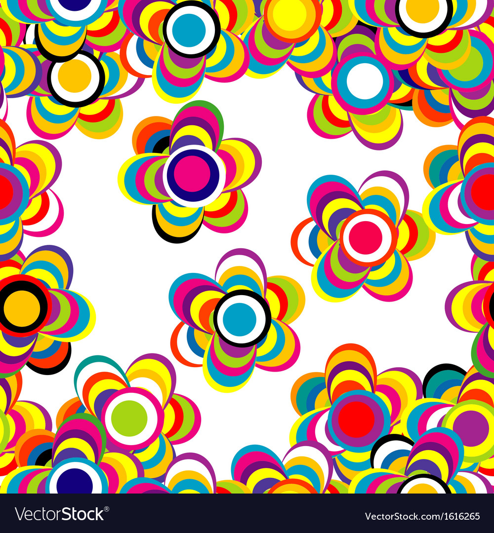 Flowers and stripes background vector