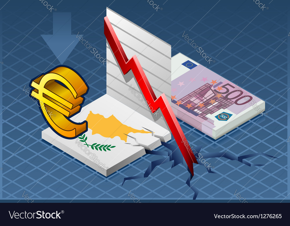 Isometric cyprus crisis vector | Price: 1 Credit (USD $1)