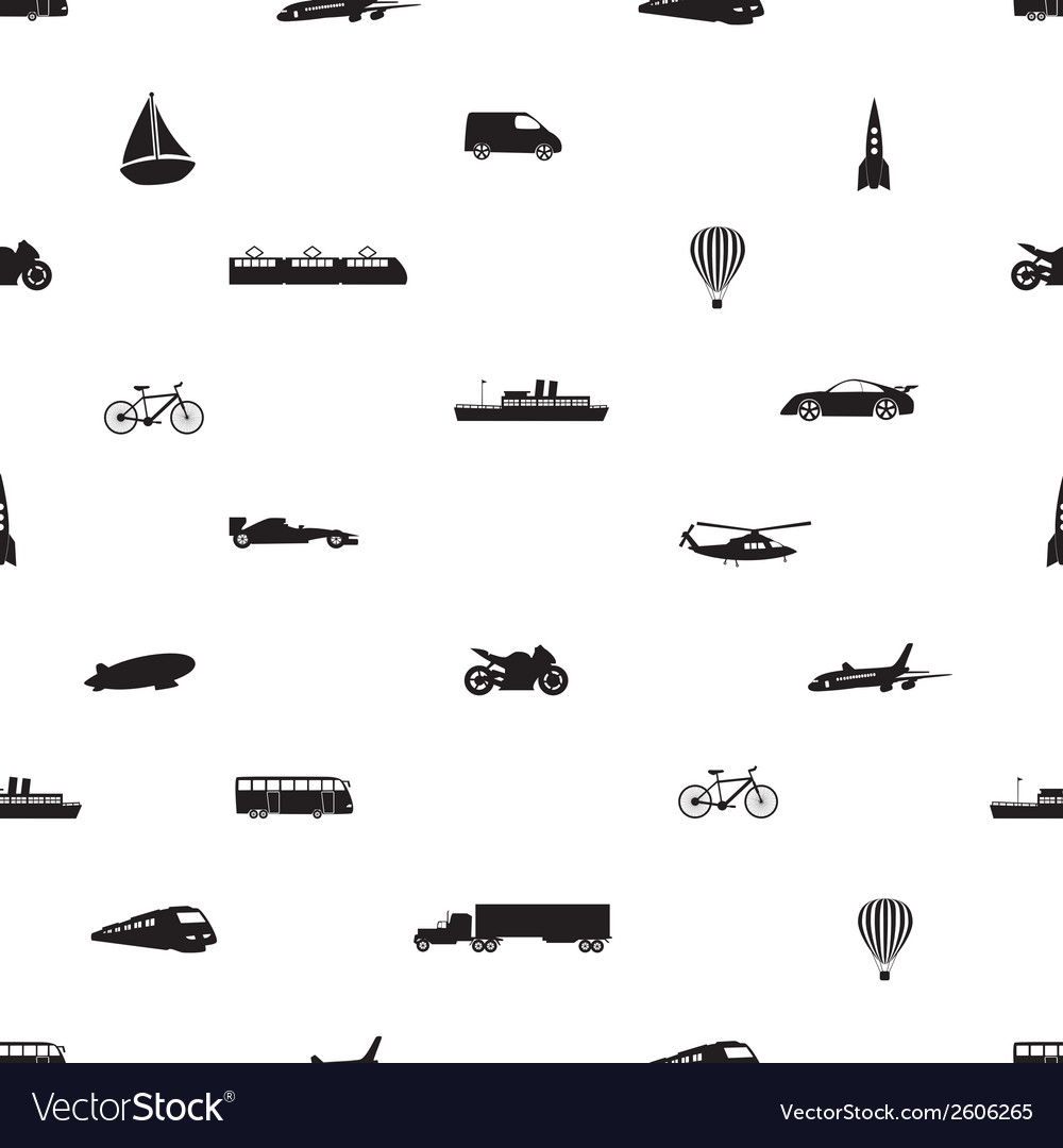 Means of transport pattern eps10 vector | Price: 1 Credit (USD $1)