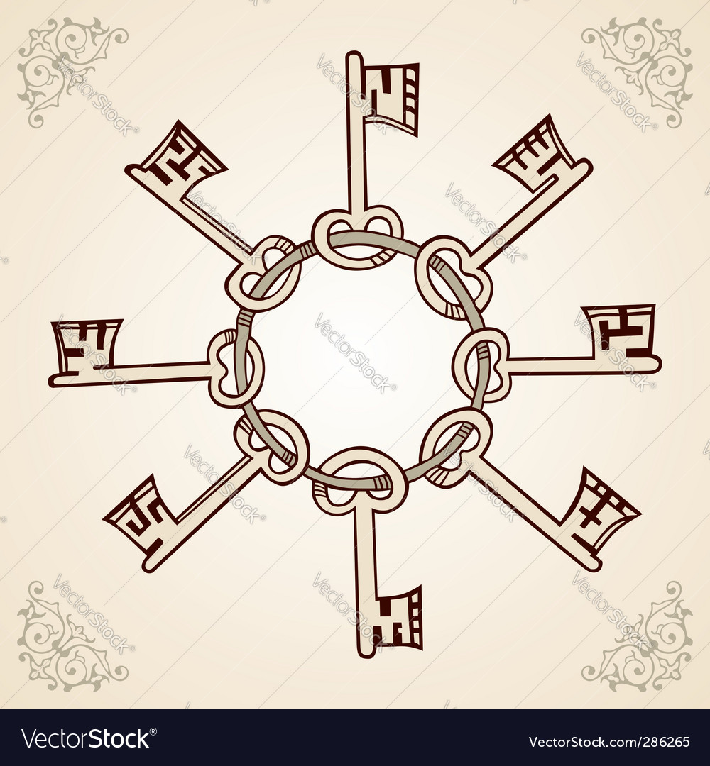 Medieval keys vector | Price: 1 Credit (USD $1)