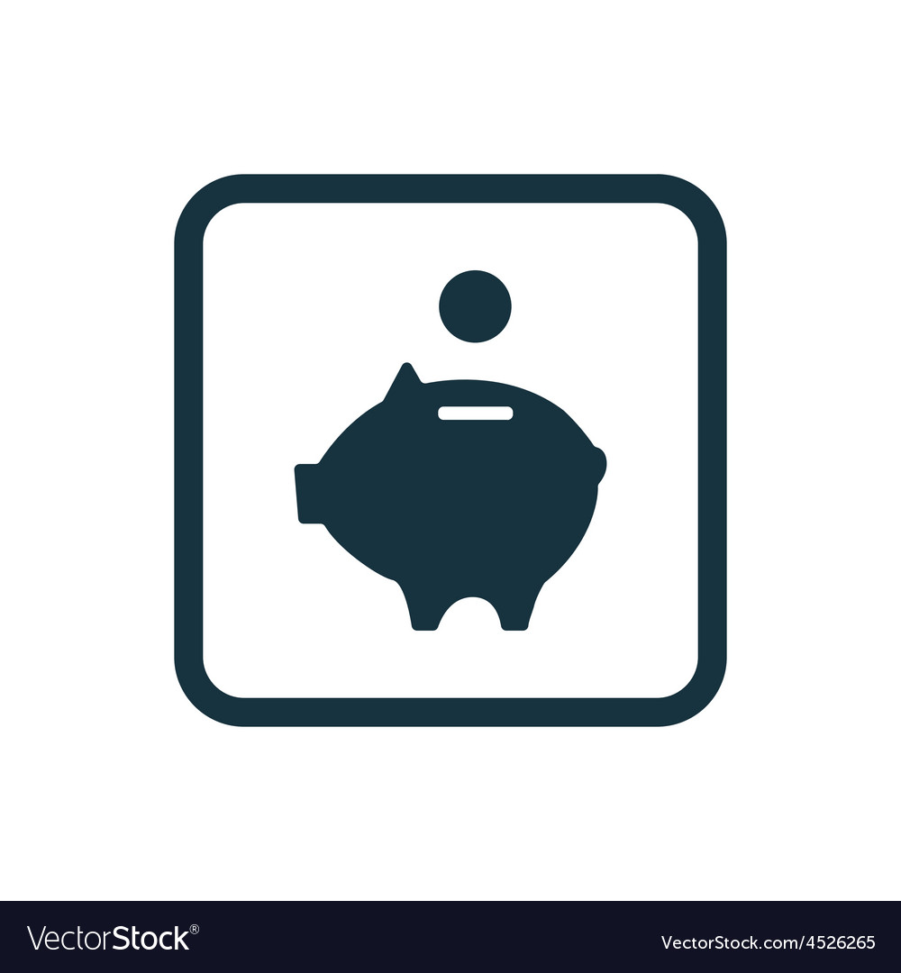 Moneybox piggy icon rounded squares button vector | Price: 1 Credit (USD $1)