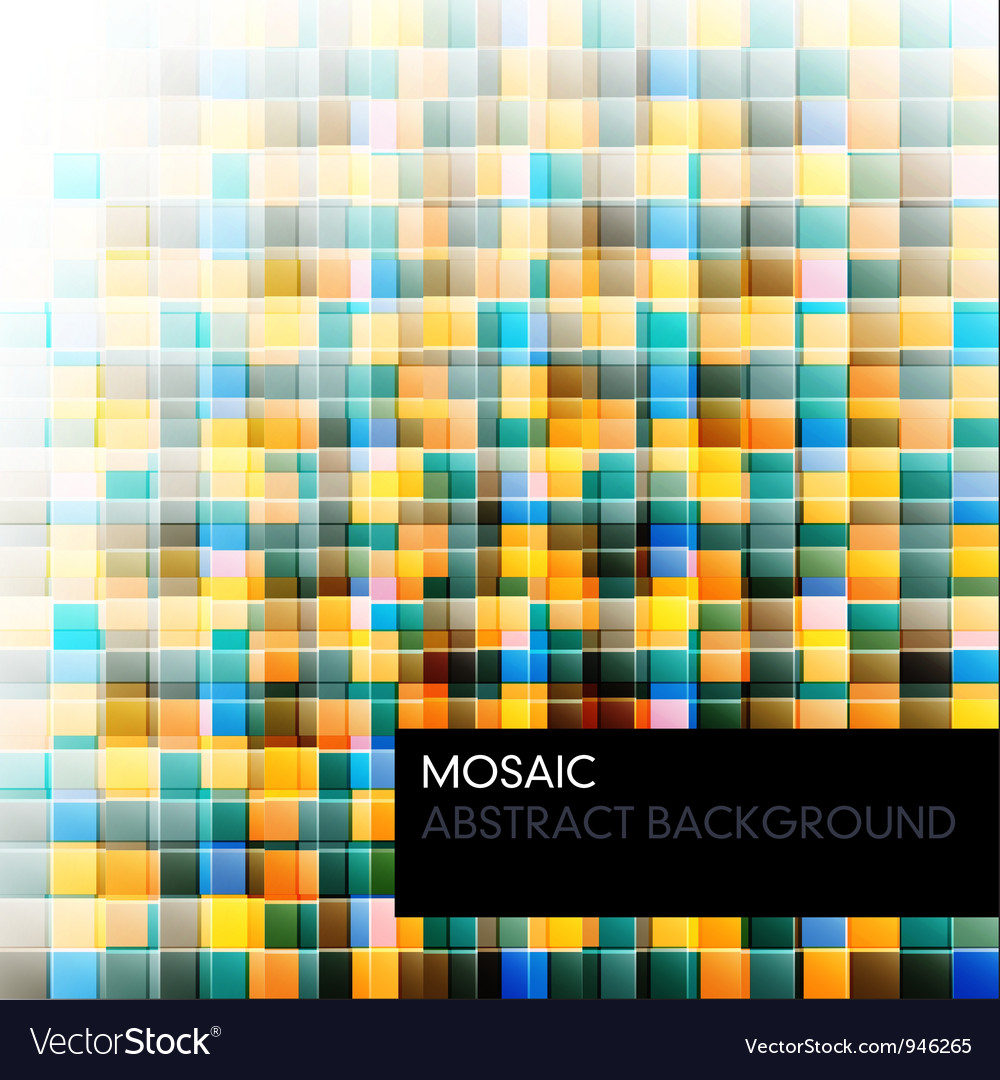 Mosaic abstract color background vector | Price: 1 Credit (USD $1)