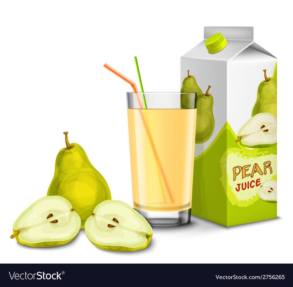 Pear juice set vector | Price: 1 Credit (USD $1)