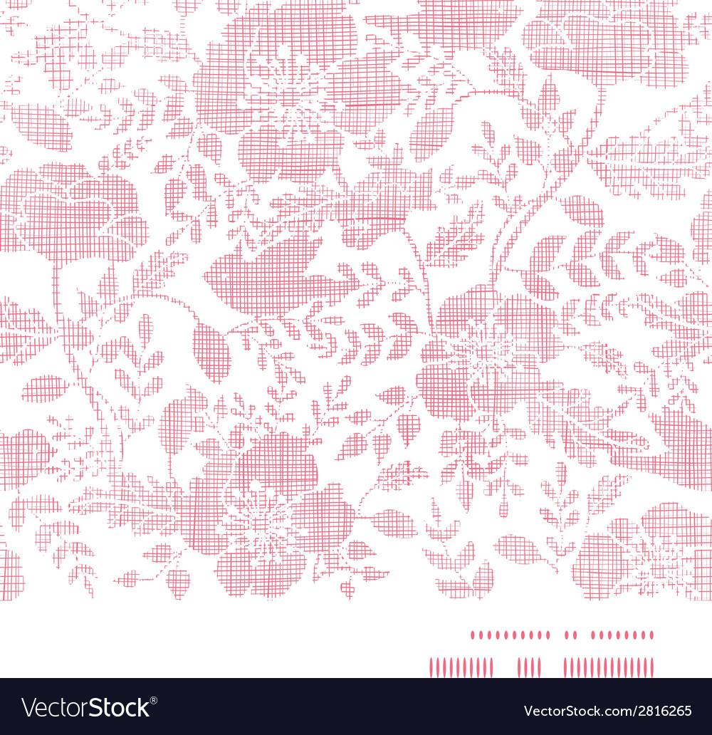 Pink textile birds and flowers horizontal frame vector | Price: 1 Credit (USD $1)