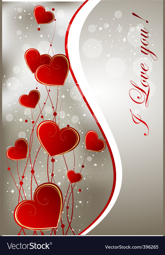 Valentine greeting card vector | Price: 1 Credit (USD $1)