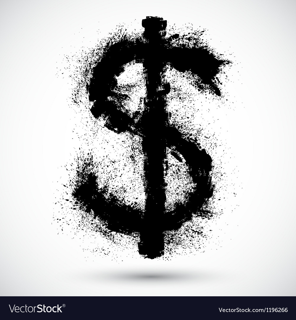 An american dollar splatter design element vector | Price: 1 Credit (USD $1)