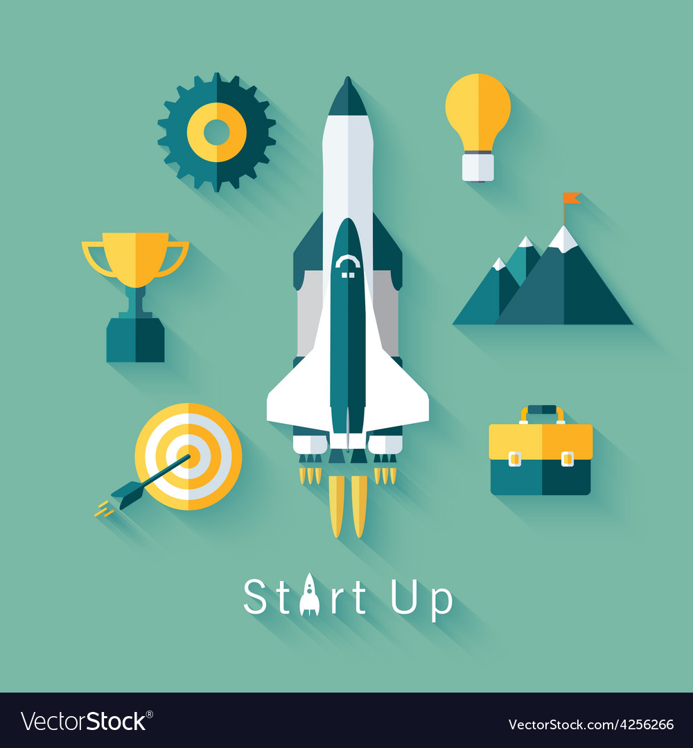Concept of new business project startup vector   Price: 1 Credit (USD $1)