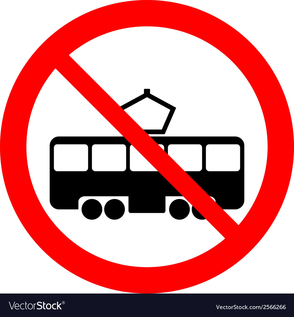 No tram sign vector | Price: 1 Credit (USD $1)
