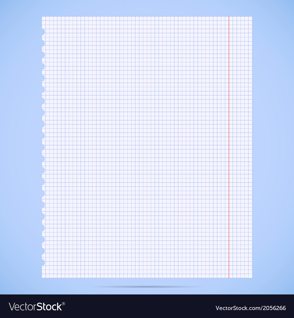 Notebook paper sheet vector | Price: 1 Credit (USD $1)