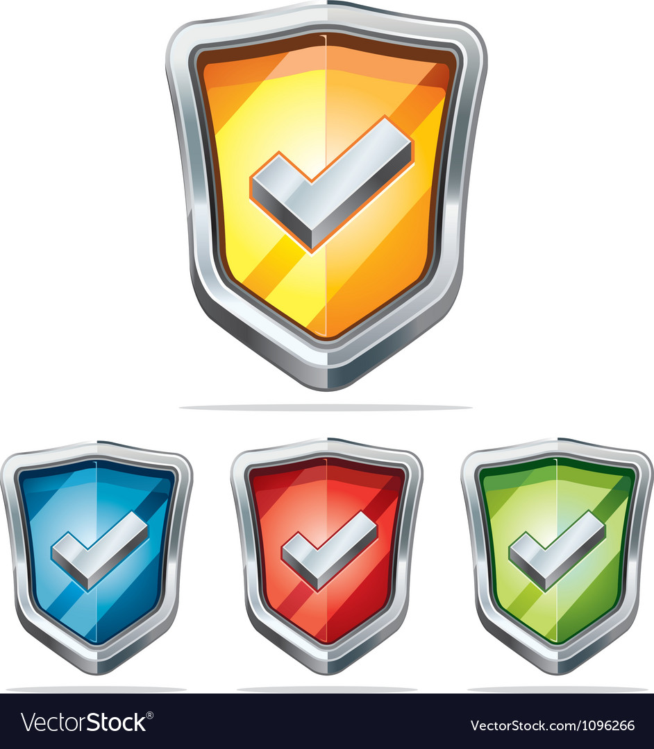 Protection shield security icons vector | Price: 1 Credit (USD $1)