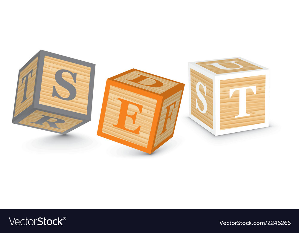 Word set written with alphabet blocks vector | Price: 1 Credit (USD $1)