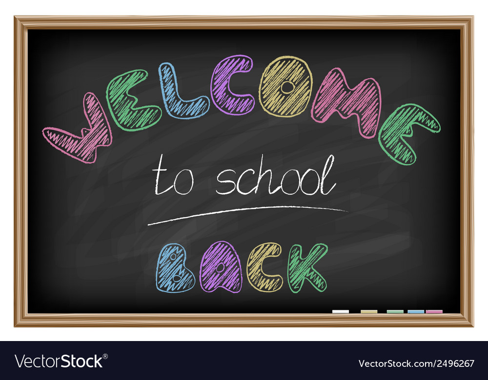 Back to school poster chalkboard effect vector | Price: 1 Credit (USD $1)