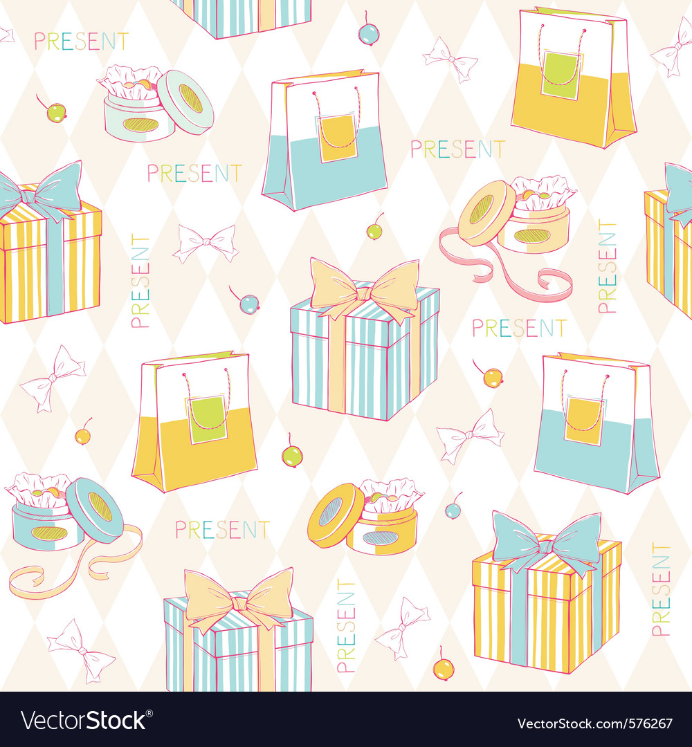 Birthday wrapping paper vector | Price: 1 Credit (USD $1)