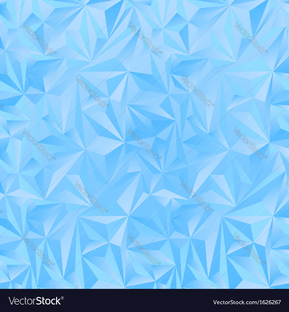 Crystal ice triangles blue background vector | Price: 1 Credit (USD $1)