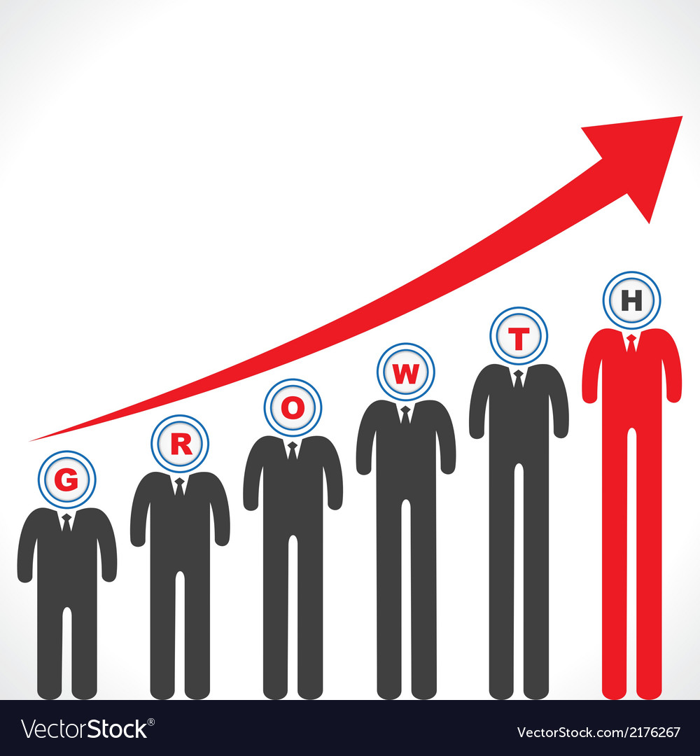 Growth graph with businessman s face vector | Price: 1 Credit (USD $1)