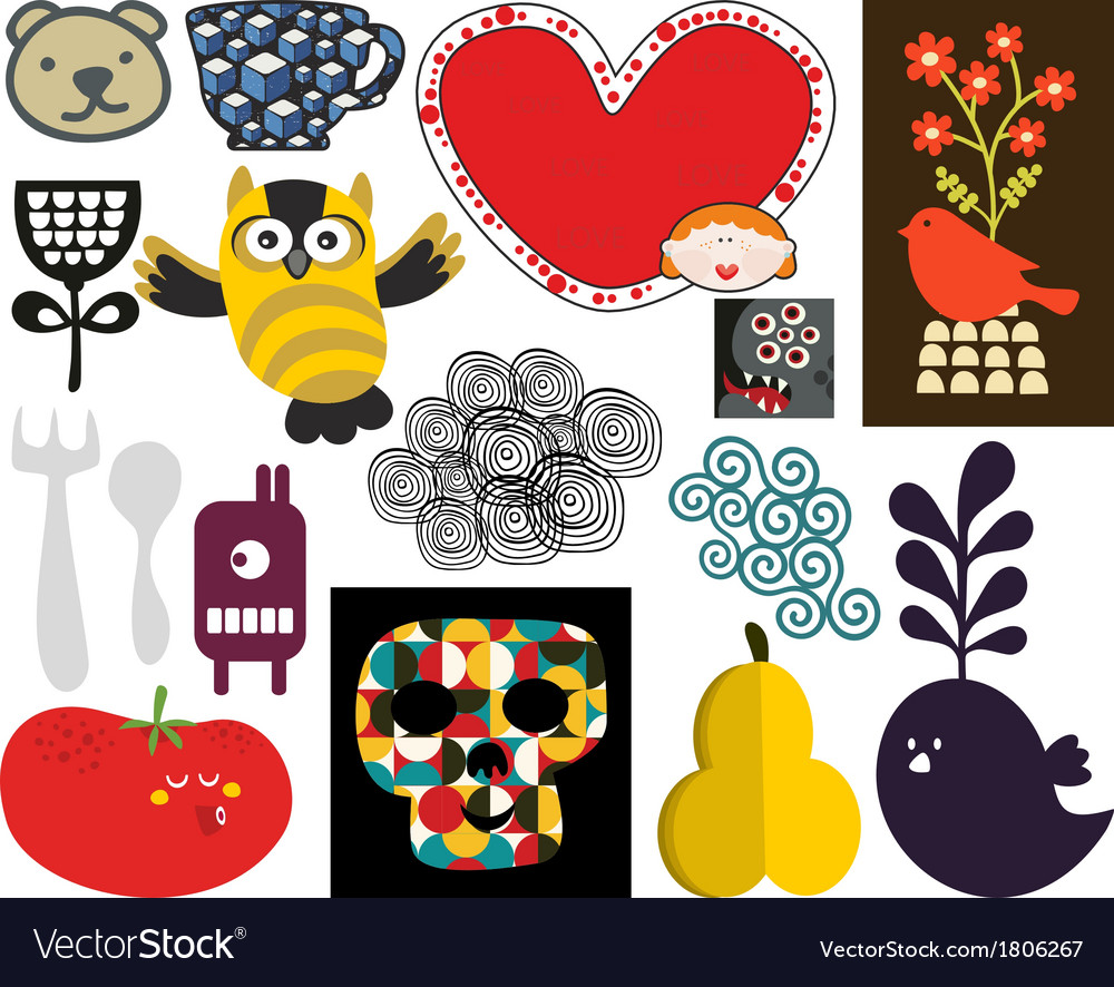 Mix of images and icons vol71 vector | Price: 1 Credit (USD $1)