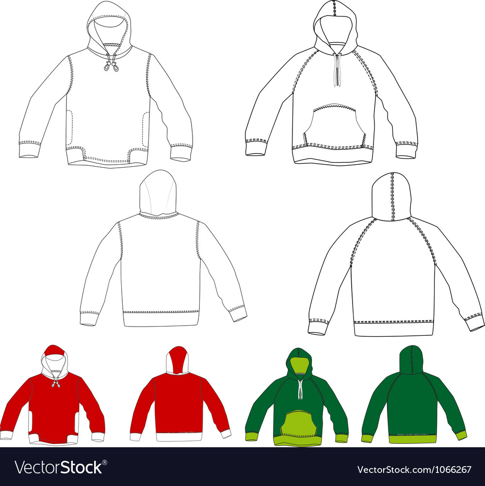 Set of hoodies vector | Price: 1 Credit (USD $1)