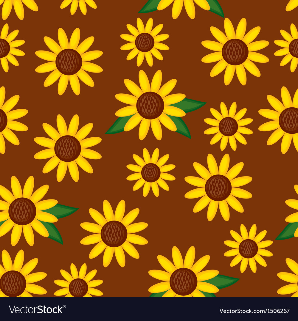 Sunflower pattern vector | Price: 1 Credit (USD $1)