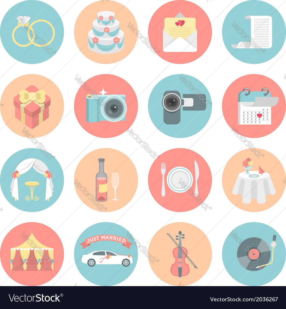 Wedding icons vector | Price: 1 Credit (USD $1)