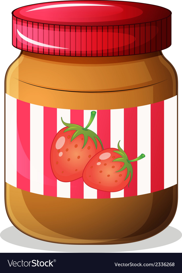 A bottle of strawberry jam vector | Price: 1 Credit (USD $1)