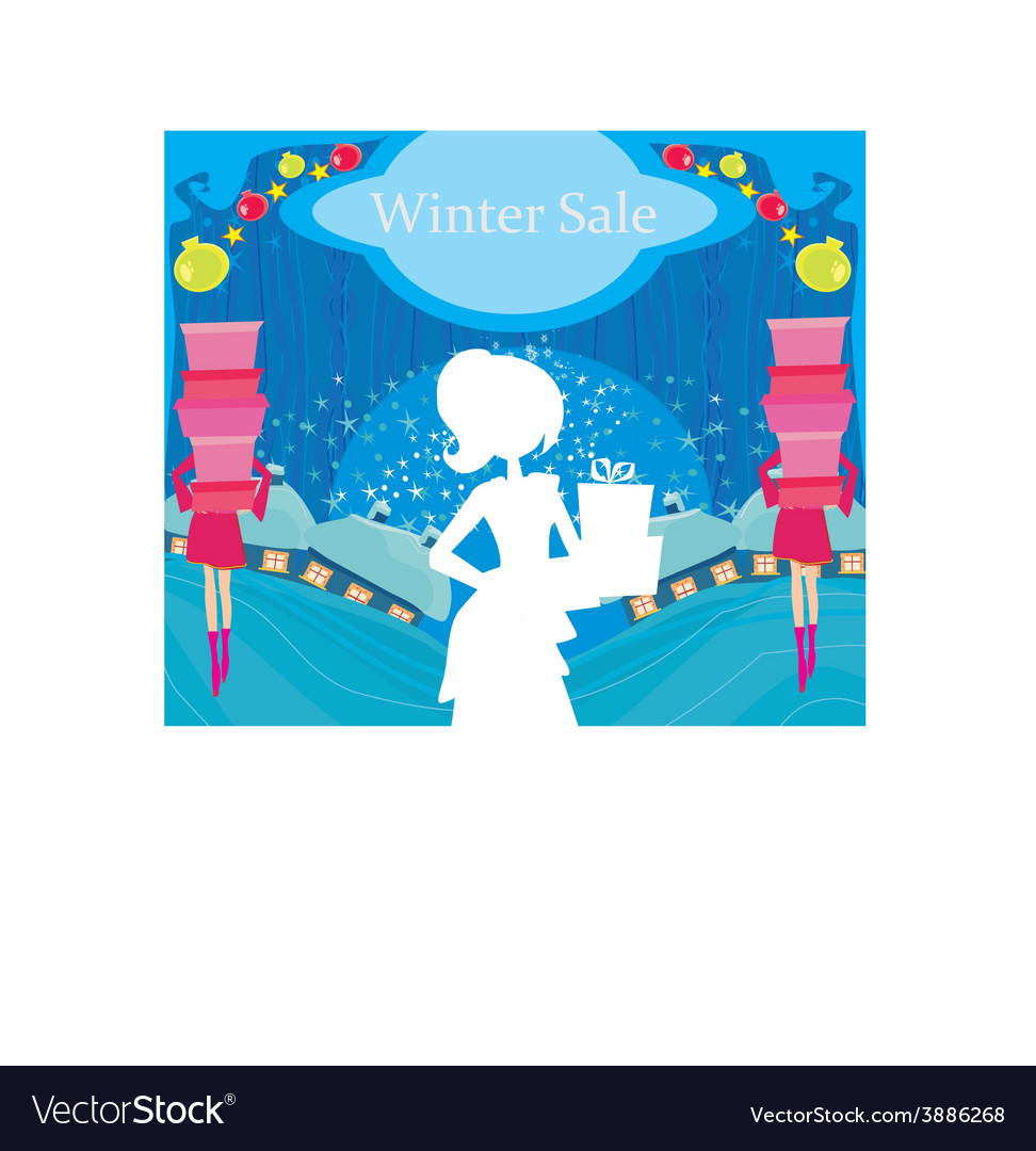 Abstract card - winter sale vector | Price: 1 Credit (USD $1)