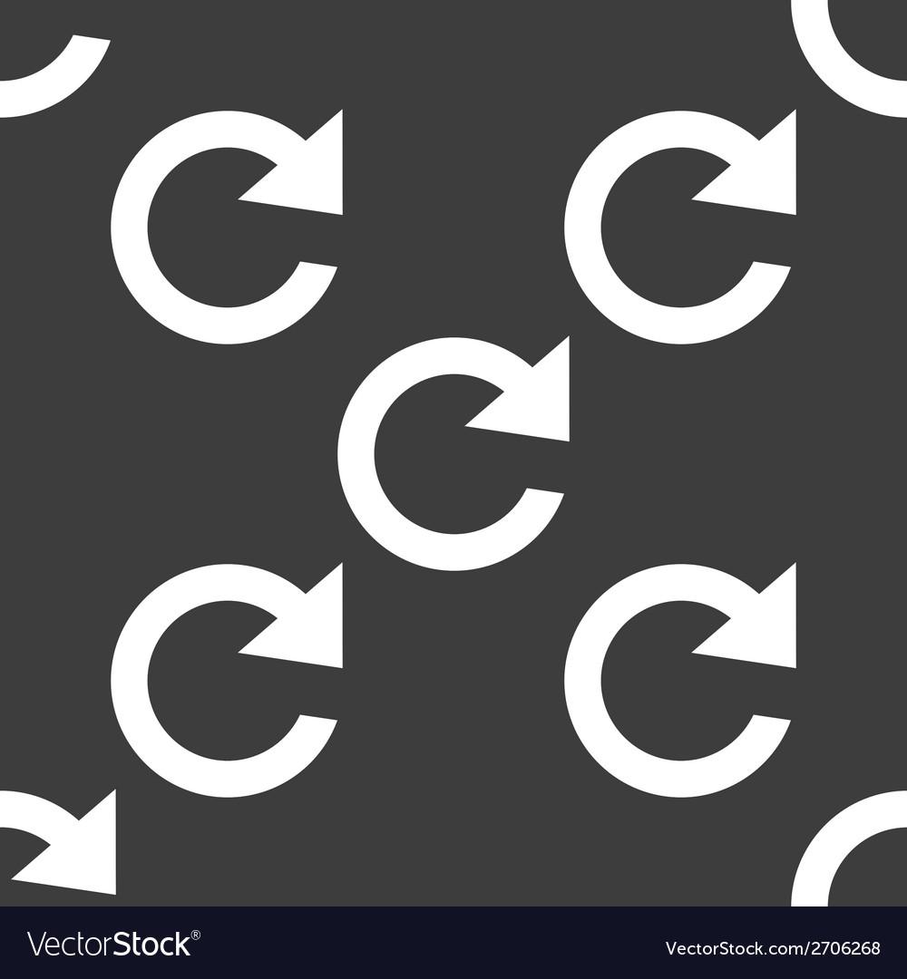 Arrow update web icon flat design seamless pattern vector | Price: 1 Credit (USD $1)