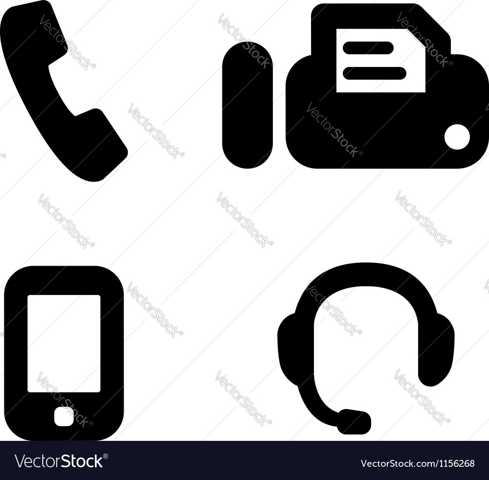 Contact phones vector | Price: 1 Credit (USD $1)