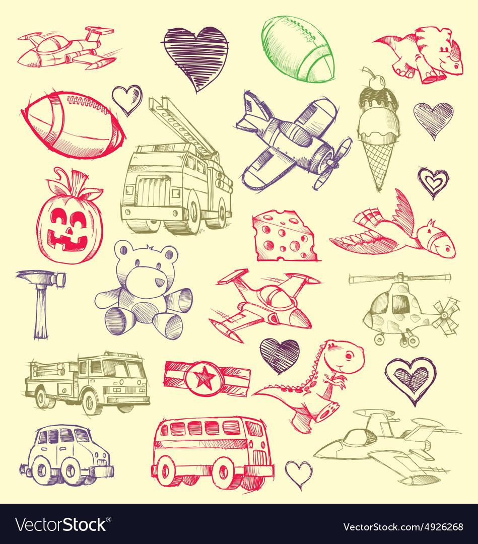 Doodles set vector