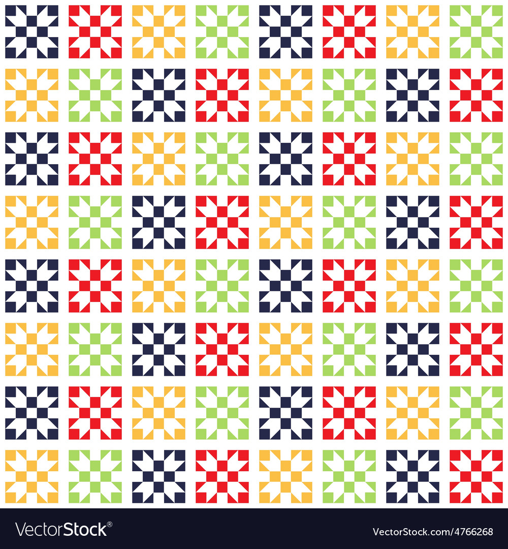 Quilt seamless pattern patchwork pattern vector | Price: 1 Credit (USD $1)