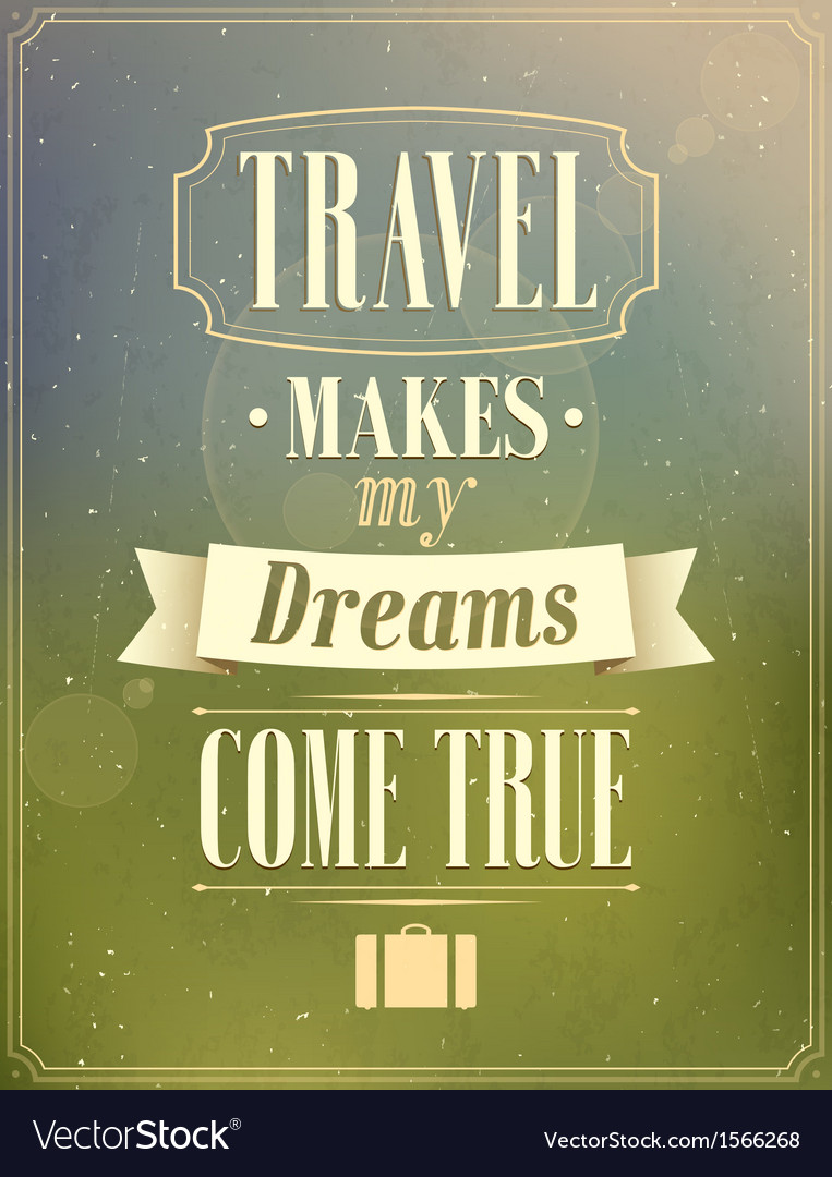 Travel retro design vector | Price: 1 Credit (USD $1)