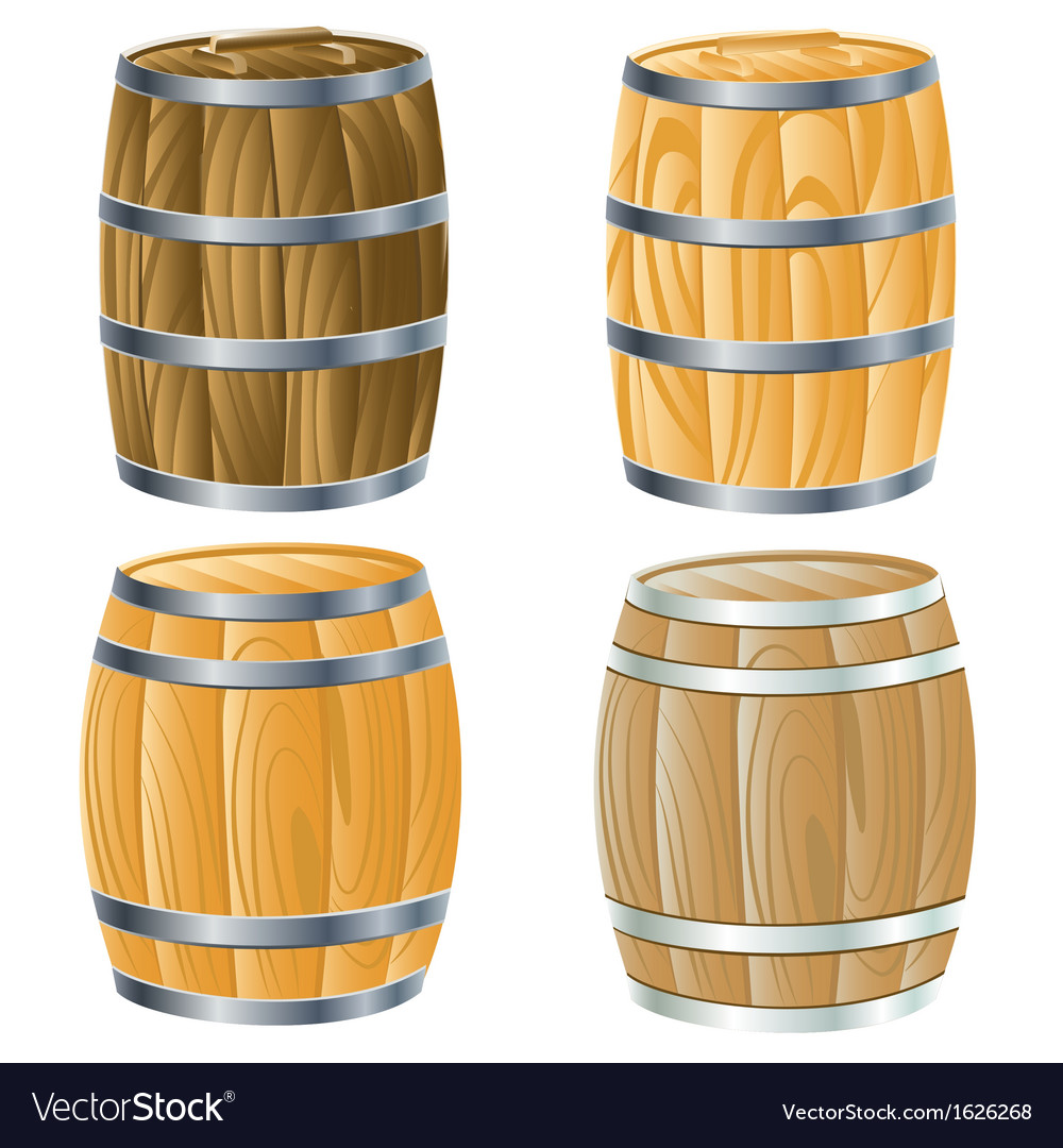 Wooden barrel of vector | Price: 1 Credit (USD $1)