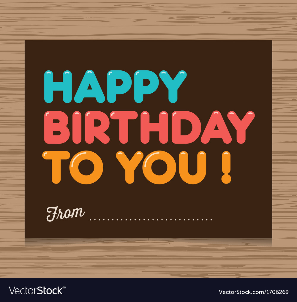 Birthday card brown vector | Price: 1 Credit (USD $1)
