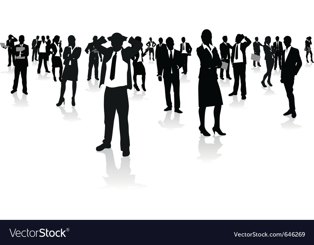 Business people group vector | Price: 1 Credit (USD $1)