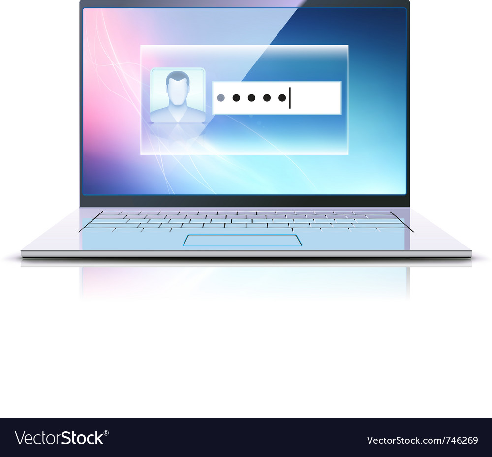 Computer security concept vector | Price: 3 Credit (USD $3)