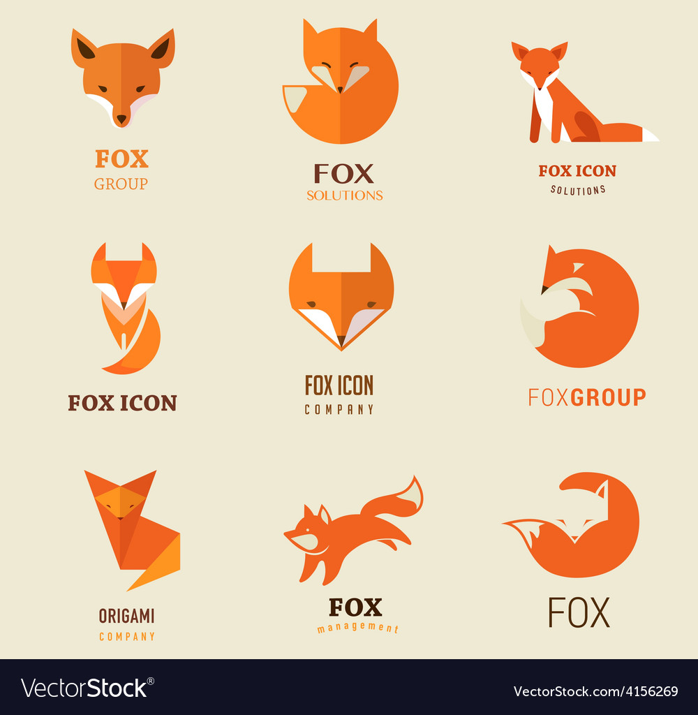 Fox icons and elements vector | Price: 1 Credit (USD $1)