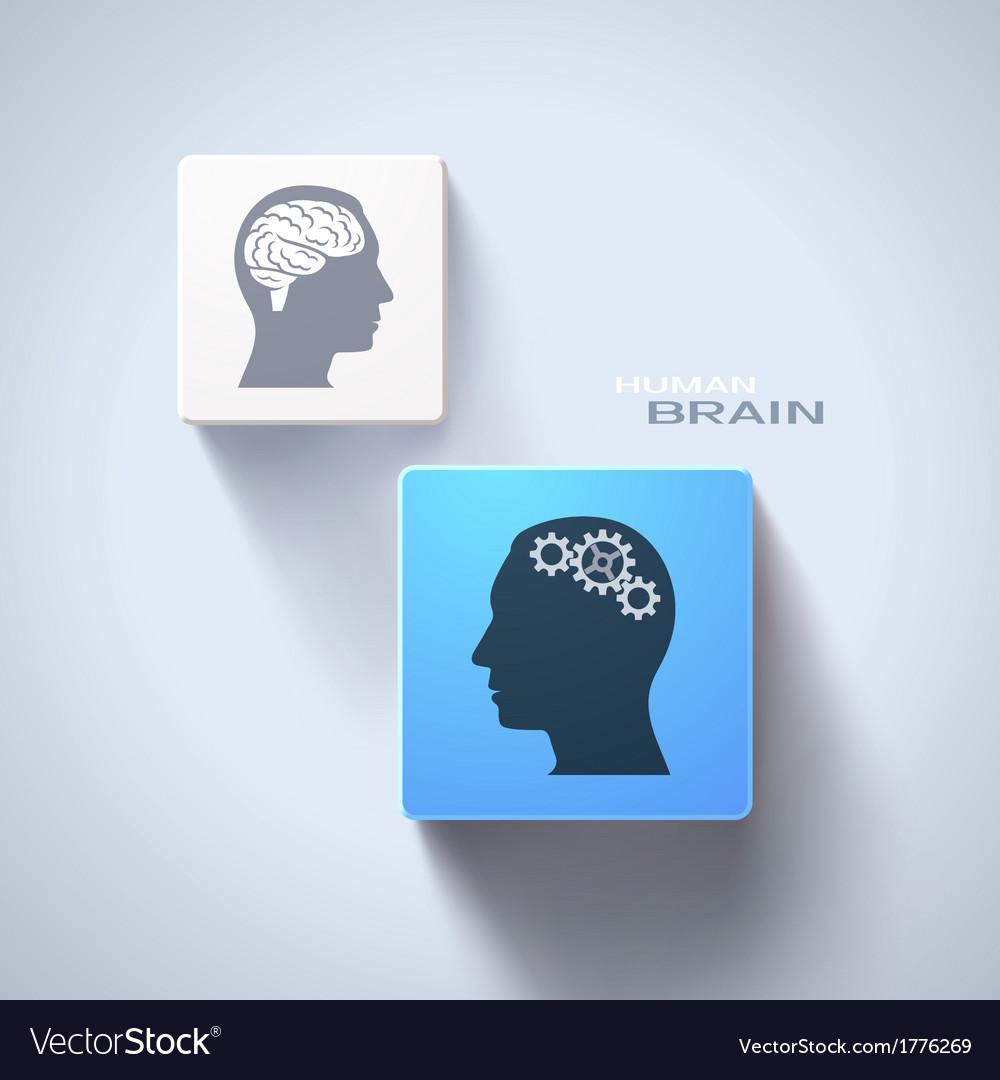 Human brain concept vector | Price: 1 Credit (USD $1)