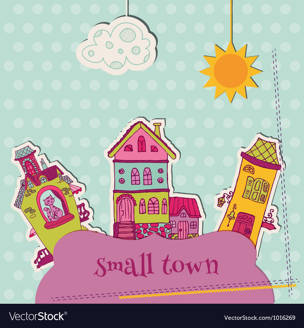 Little town scrap vector | Price: 1 Credit (USD $1)