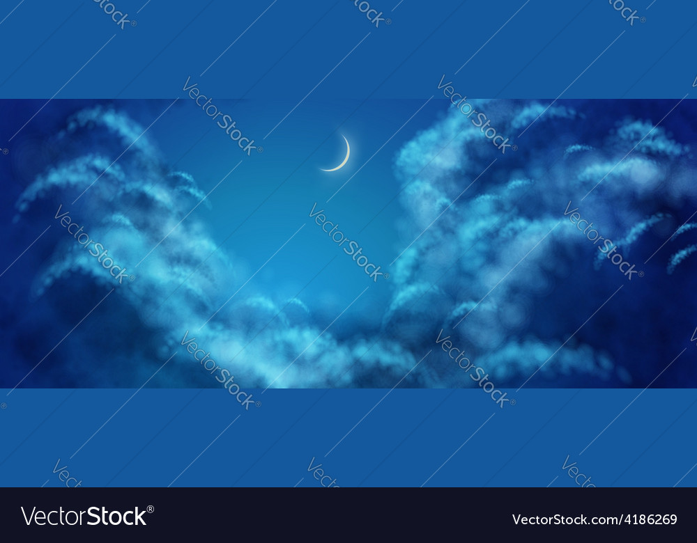 Nightly clouds vector | Price: 1 Credit (USD $1)