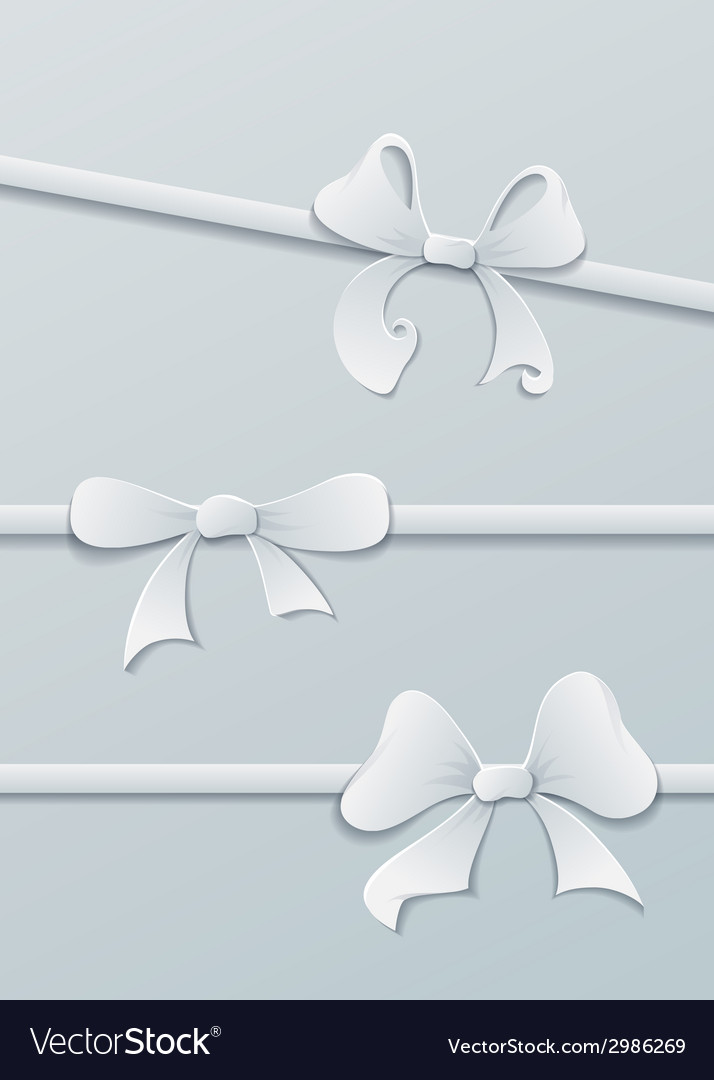 Paper bows vector | Price: 1 Credit (USD $1)