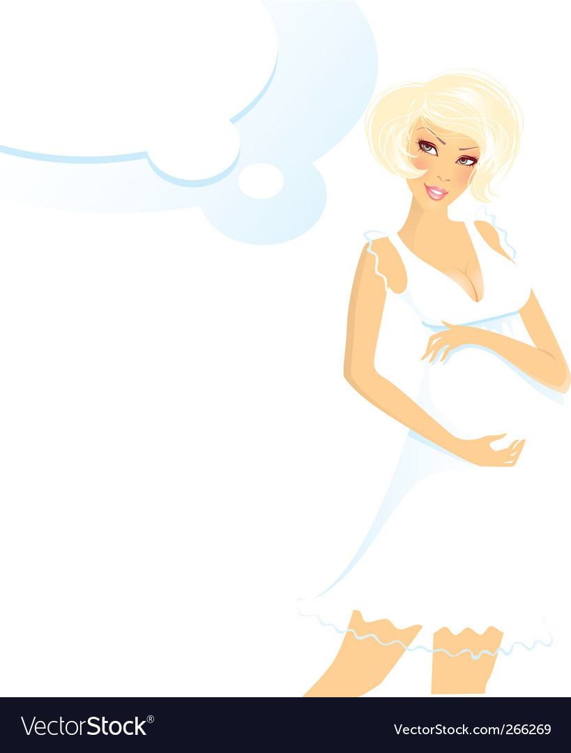Pregnant women blond vector | Price: 3 Credit (USD $3)