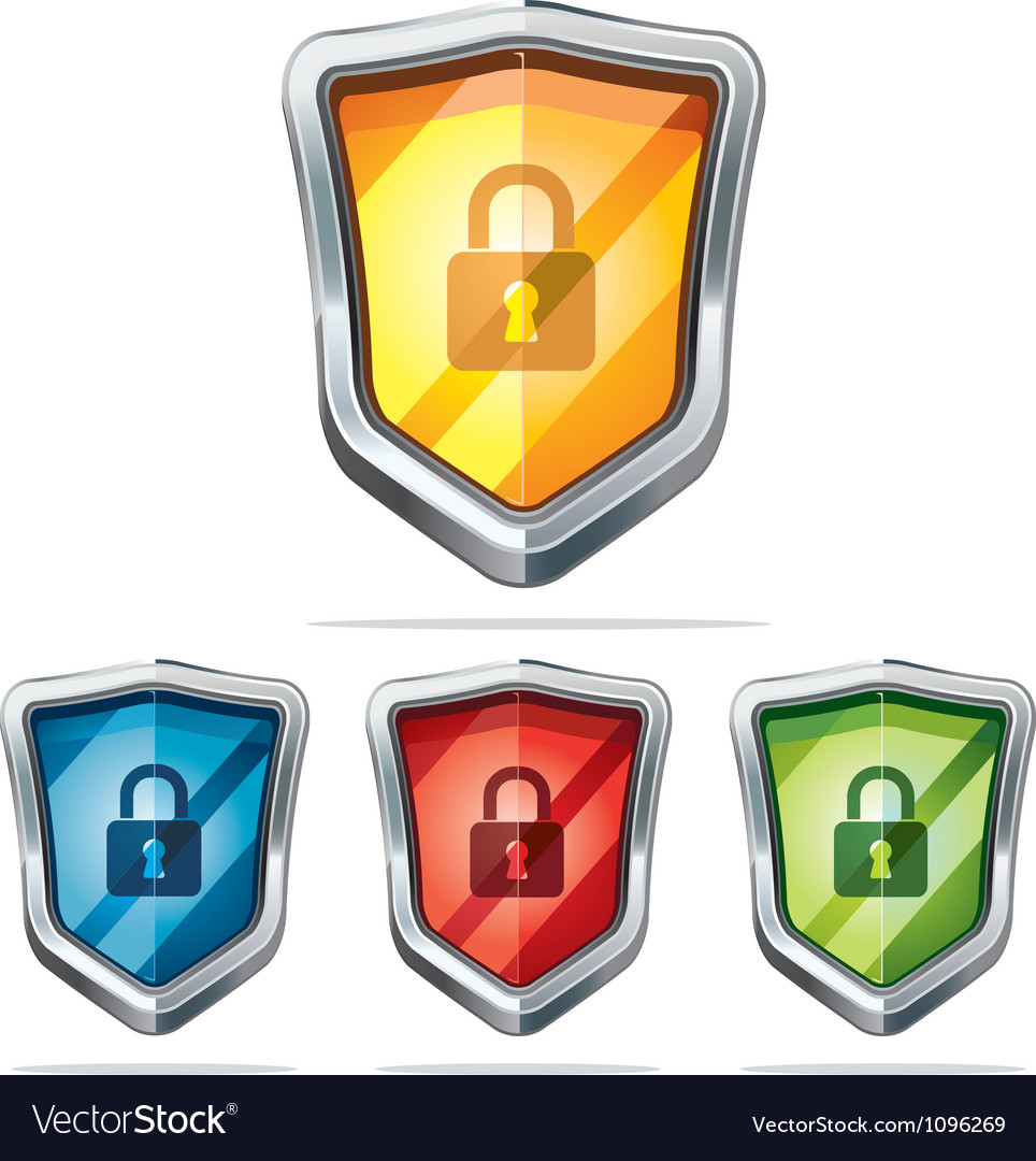 Protection shield security icons vector | Price: 3 Credit (USD $3)