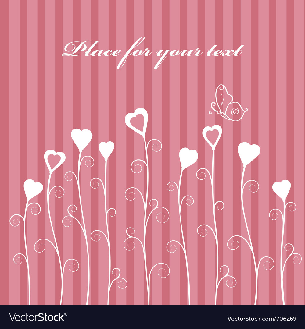 Retro love floral card vector | Price: 1 Credit (USD $1)